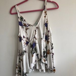 Urban Outfitters Kimchi Blue Floral Swing Tank